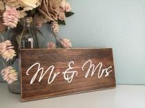 wedding photo - Mr & Mrs Rustic Wood Wedding Sign / Rustic Home Decor Sign Just Married Sign Wedding Gift Wedding Decor Engagement Anniversary