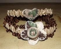 wedding photo - RUSTIC WEDDING GARTER/ Camo Wedding Garter/Camouflage Garter Set / Camo Wedding