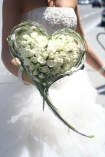 wedding photo - Bridal Bouquets White And Blush