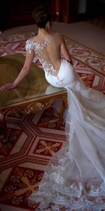 wedding photo - 15 Gorgeous Tattoo Effect Wedding Dresses