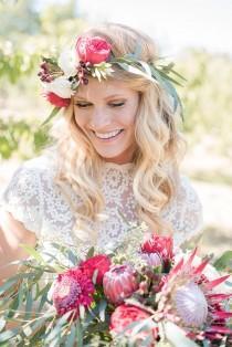 wedding photo - Boho Cherry Orchard Wedding