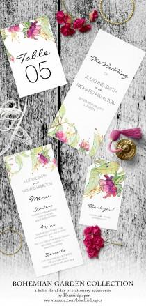 wedding photo -  Bohemian Garden, a boho day of stationery