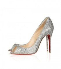 wedding photo - Christian Louboutin Sexy Strass 100 Swarovski Crystal Peep-Toe P [996] - $140.00 : Christian Louboutin Outlet USA