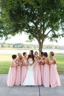 wedding photo - Coral Bridesmaid Dress Gorgeous Long Strapless Coral Bridesmaid Dresses For Country Wedding From Dresscomeon