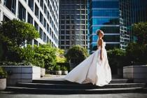 wedding photo - Sample Sale Dramatic Ballgown Wedding Dress with Pockets, Strapless Deep Sweetheart Bodice, Corset Back, Hight Fashion Dress Eco Friendly