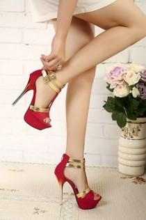 wedding photo - HOT! Womens Mix Color Suede Shoes Super High Heel Platform Sexy Stiletto Sandals
