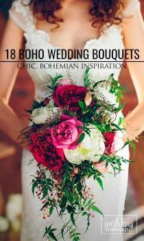 wedding photo - 24 Bohemian Wedding Bouquets That Are Totally Chic