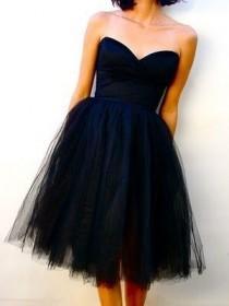 wedding photo - New Bridesmaid Dress Tulle Short/Mini Wedding Evening Cocktail Dress Custom Size