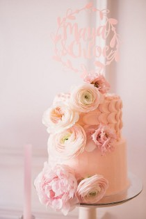 wedding photo - Floral Twin Cake