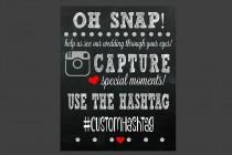 wedding photo - Social Media Hashtag Sign - Wedding Sign - Printable - If You Hashtag - Hashtag - Wedding Decor - Wedding Ideas - Share Photos - Hashtag