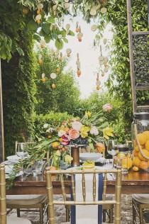 wedding photo - A Citrus-Themed Wedding Inspired By The Italian Coast