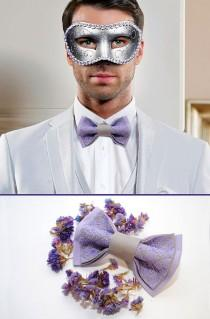 wedding photo - Lavando Bow tie for lavender wedding Mariage de lavande Lilac grey groom's bowtie Wedding bow tie Father of the bride Ring bearer outfit РІ5