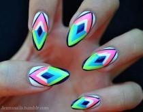 wedding photo - Geometric Nail Art