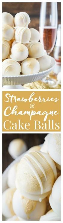 wedding photo - Strawberries & Champagne Cake Balls