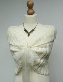 wedding photo - Lace Bridal Bolero, Ivory Wedding Shrug, Crochet Lace Bolero Jacket, Wedding Ivory Bolero, Crochet Bridal Shrug, Bolero Jacket, Bridal Shawl