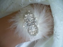 wedding photo - Wedding Garter Set, Keepsake Garter, Feather Wedding Garter, Bridal Garter Belts, Bling Garter, Pearl Garter, Lace Garter, Rhinestone Garter