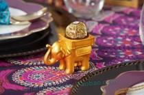 wedding photo - #婚禮 #宴會 #留言卡夾 #喜糖盒 BETER-SZ054創意婚禮小物 印度幸運大象燭臺回禮