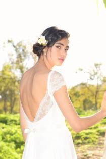 wedding photo - Jenny- Boho wedding dress, lace wedding dress, beach wedding dress, wedding dress with sleeves