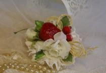 wedding photo - Fruits Hair Clip Rockabilly Fascinator  Flower Strawberry Hair Accessories Burlesque Tutti Fruit