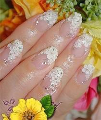 wedding photo - 100 Delicate Wedding Nail Designs