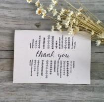 wedding photo - Thank You Card Set, Wedding Thank You Cards, Thank You Note, Rustic Thank You Note