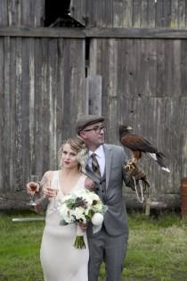 wedding photo - Rustic Minimalism... And Baby Goats!
