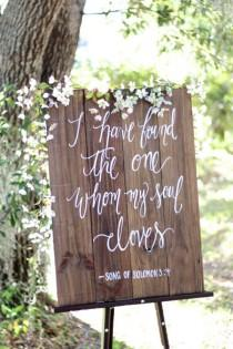 wedding photo - Rustic Wooden Wedding Sign