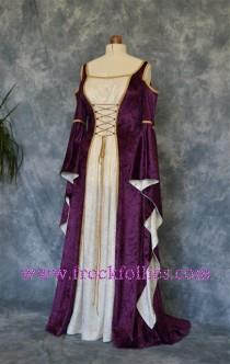 "wedding photo - Medieval Gown, Elvish Wedding Gown, Handfasting Dress, Renaissance Gown, Medieval Dress, Gothic Dress, Prom Dress, LARP Dress ""Melissa"""
