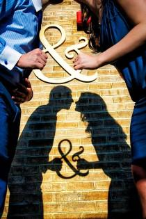 wedding photo - Silhouette And Shadow Engagement Photos