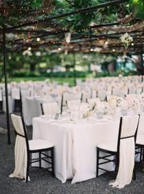 wedding photo - Black Tie Al Fresco Affair In Napa
