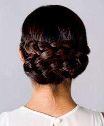 wedding photo - Pinterest of the Week: A Sleek Braided Updo