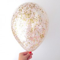 wedding photo - Pink   Gold Confetti Balloons