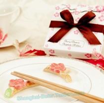 wedding photo - Cherry Blossom Chopsticks Holder Wedding Favors TC004