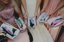 wedding photo - custom : bridesmaid gifts, personalized clutches, choose your fabrics, custom clutch