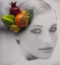 wedding photo - Fruits hair Clip - Carmen Miranda Style - Burlesque - Retro - Rockabilly