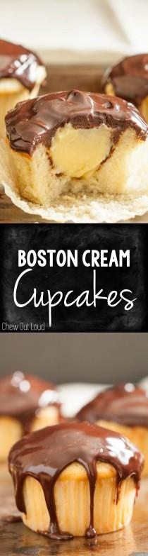 wedding photo - Boston Cream Cupcakes