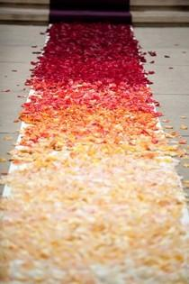 wedding photo - Romantic Wedding Aisle Petals