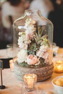 wedding photo - Rustic Terrarium Wedding Centerpiece