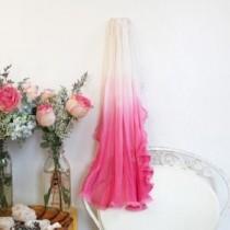 wedding photo - Pink Ombre Wedding Veil