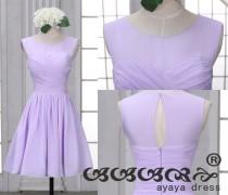 wedding photo - Lavender Short Bridesmaid Dress , bridesmaid dresses, Bridesmaid dresses with Sweetheart Neckline,prom dress,evening dress 2016