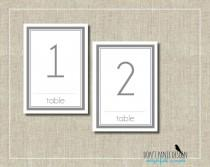 wedding photo - Modern Gray Table Numbers - Elegant Printable Table Numbers 1-30 - Pink and Grey - Event Table Numbers - Instant Download
