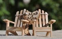 wedding photo - Cake Topper Adirondack Chairs-Beach Wedding-Cottage Wedding-Shabby Chic- Rustic Chic Burned/Engraved Mr. & Mrs. Adirondack cake toppers