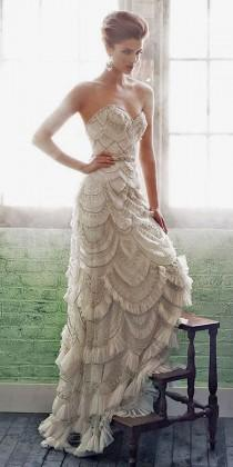 wedding photo - 30 Totally Unique Fashion Forward Wedding Dresses