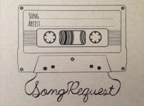 wedding photo - Song Request Mixtape Card- Digital Design Style 2
