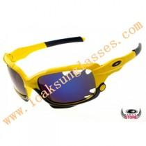 wedding photo - Find Oakley Racing Jacket with neon yellow frame ice iridium lens
