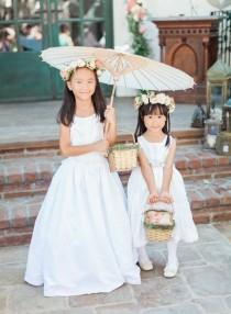 wedding photo - Parasols   Pastel Bouquets, See The Ultimate Garden Ceremony!