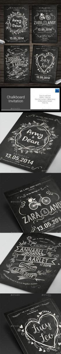 wedding photo - Chalkboard Invitation