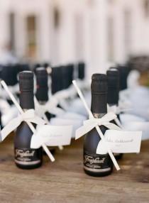 wedding photo - Mini Champagne Favors