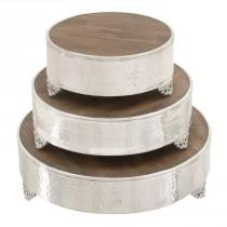 wedding photo - Woodland Imports 3 Piece Grand Cake Stand Set