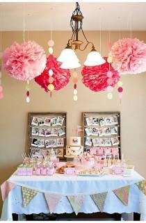 decoracin de la boda cm papel de seda pom poms bola de la flor artificial del beb partido de la ducha de cumpleaos arte de nios de eventos